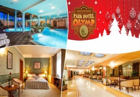 Нова година 2020 във Велинград! 2, 3 или 4 нощувки със закуски и вечери,  едната празнична + минерален басейн и бонус СПА пакет в Парк хотел Олимп, Велинград