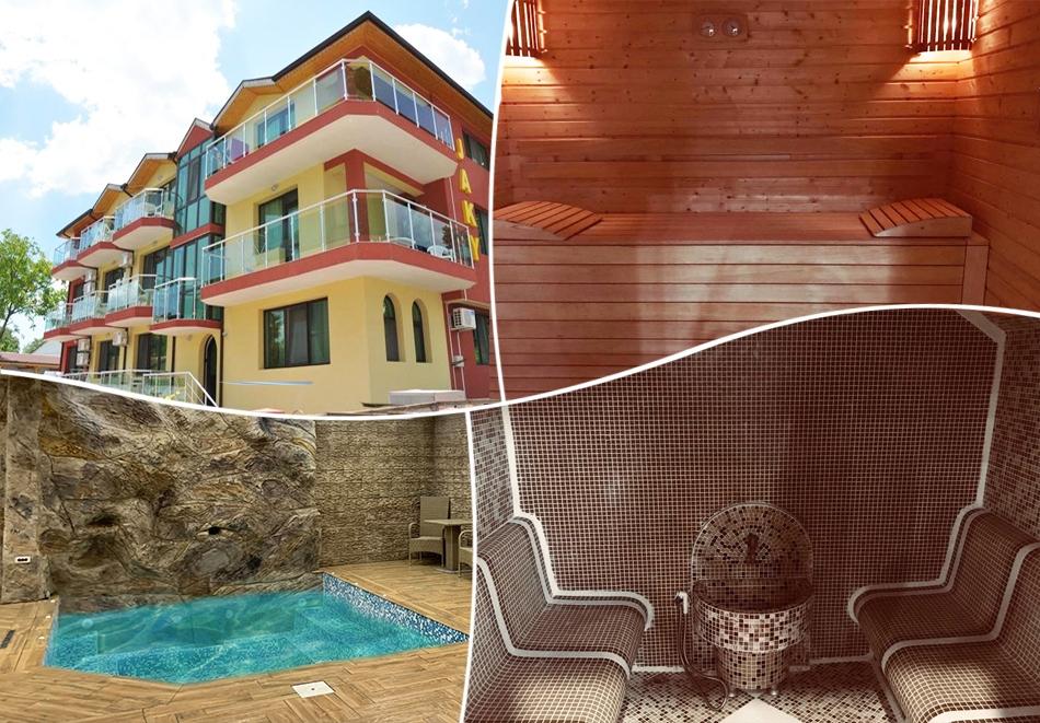 Почивка в Кранево! Нощувка на човек със закуска и вечеря + вътрешен басейн и релакс зона от хотел Жаки