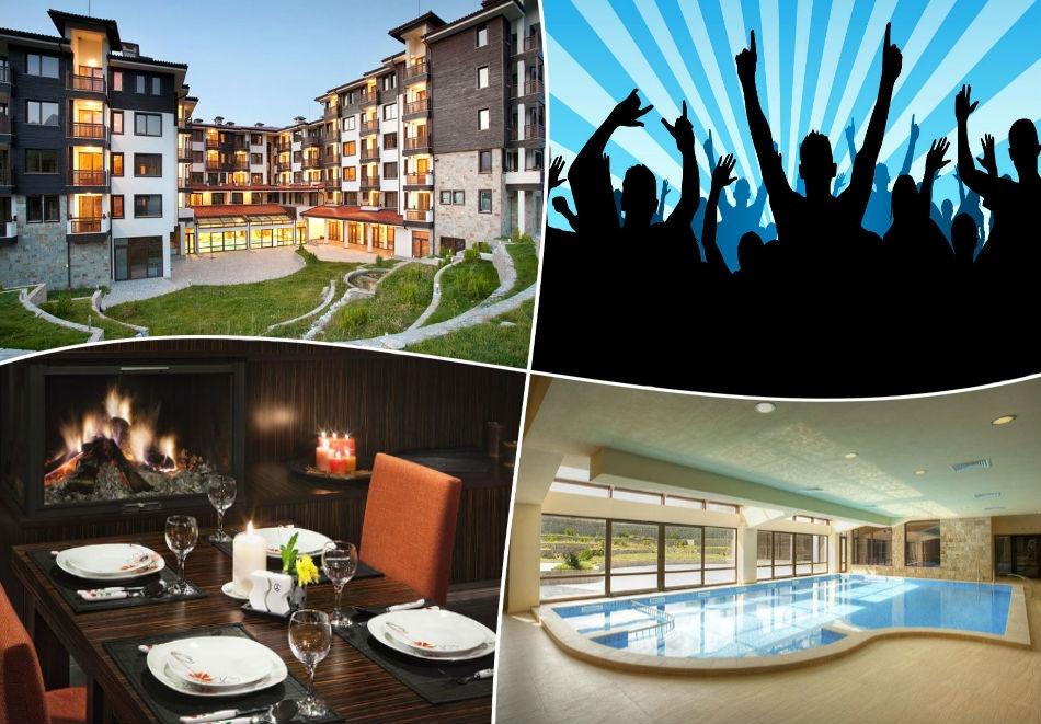 Студентски празник в Банско! 2 или 3 нощувки на човек със закуски и празнична вечеря + басейн и релакс зона в луксозния хотел Сейнт Джордж Ски & Холидей****, Банско!