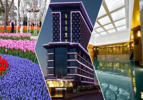 Екскурзия за фестивала на лалето в Истанбул! Транспорт + 2 нощувки на човек със закуски в хотел Golden Tulip Istanbul Bayrampasa от Караджъ Турс