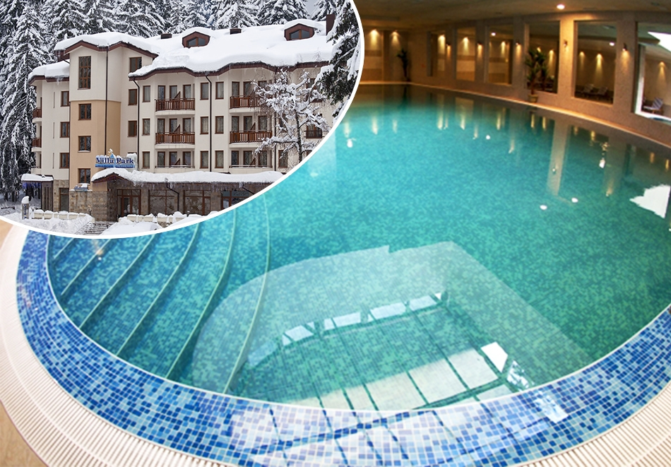 Цяла зима ски и релакс в Боровец! Нощувка на човек със закуска и вечеря  + басейн в хотел Вила Парк