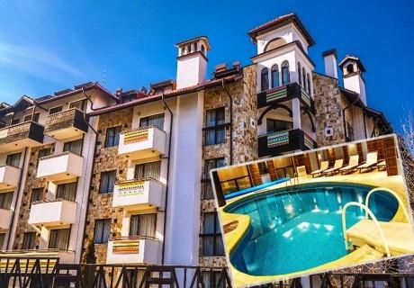 Нощувка на човек със закуска + басейн и сауна в  апарт хотел Дрийм***, Банско