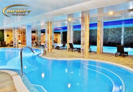 Специална делнична оферта през февруари в Инфинити Парк Хотел и Спа****, Велинград! 2 + нощувки за ДВАМА със закуски и вечери, минерални басейни и СПА