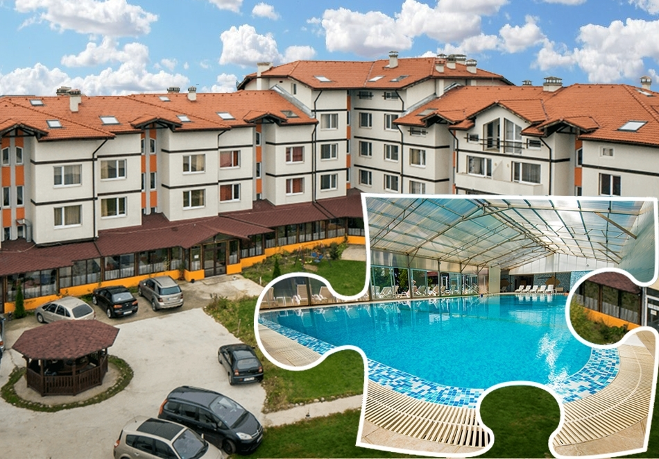 Нощувка на човек със закуска и вечеря + басейн и СПА пакет в хотел Вита Спрингс, с. Баня до Банско