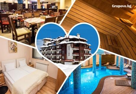 Нощувка на човек със закуска + басейн, релакс пакет и трансфер до ски лифта от хотел Орбилукс***, Банско