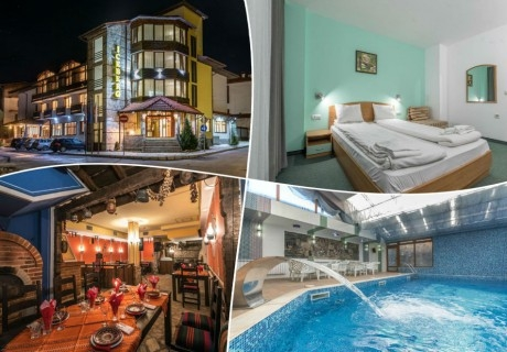 Зимна ски почивка в Банско! Нощувка на човек с изхранване по избор + басейн и обновена релакс зона в хотел Айсберг***