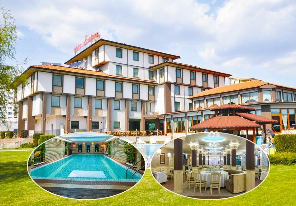Нощувка на човек със закуска + частичен масаж, минерален басейн и СПА пакет в хотел Езерец, Благоевград