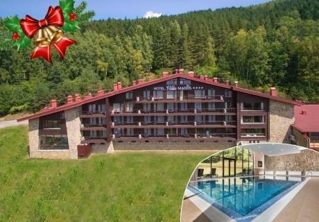 Коледа в хотел Вила Магус****, Кладница! 2 нощувки на човек със закуски и 2 празнични вечери + Коледен обяд + басейн и парна баня