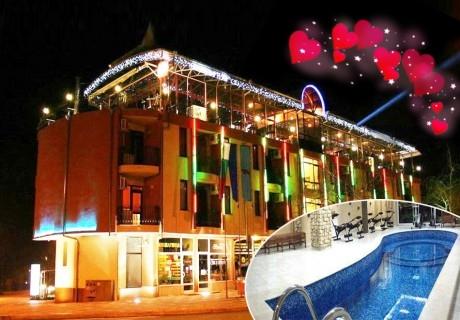Свети Валентин в хотел Амбарица, Горна Оряховица! 1 или 2 нощувки на човек със закуски и празнична вечеря + релакс басейн с джакузи, сауна, парна кабина