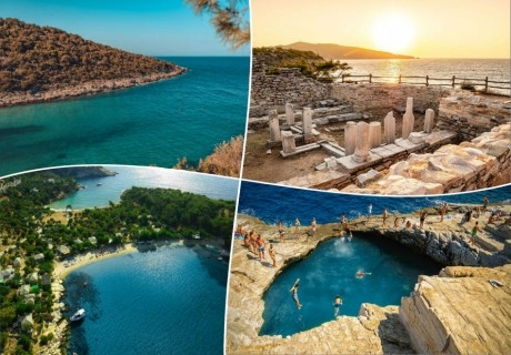 Почивка на остров Тасос, Гърция. 5 нощувки на човек със закуски и вечери +транспорт от ТА България Травъл
