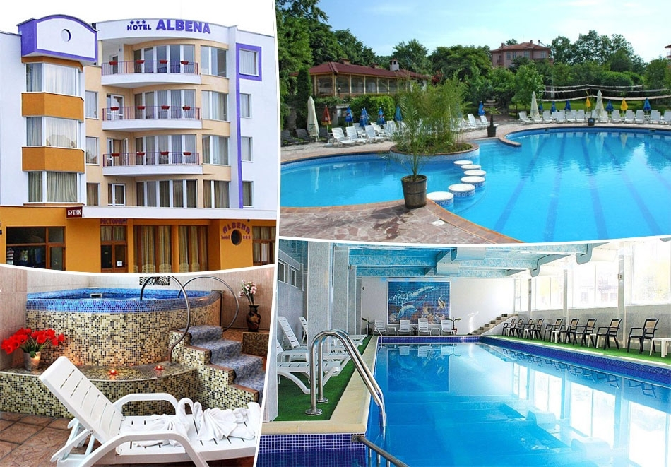Нощувка на човек със закуска и вечеря + басейн с минерална вода и релакс зона от хотел Албена***, Хисаря