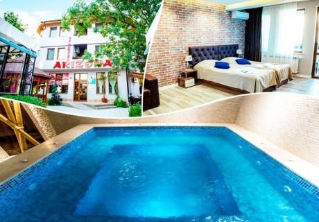 Делник в Павел баня! 2 или 3 нощувки на човек със закуски и вечери + релакс зона от хотел-ресторант Аризона