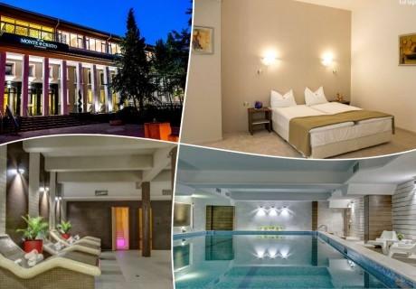 Почивка в Благоевград! Нощувка на човек със закуска и вечеря + минерален басейн и релакс пакет от хотел Монте Кристо