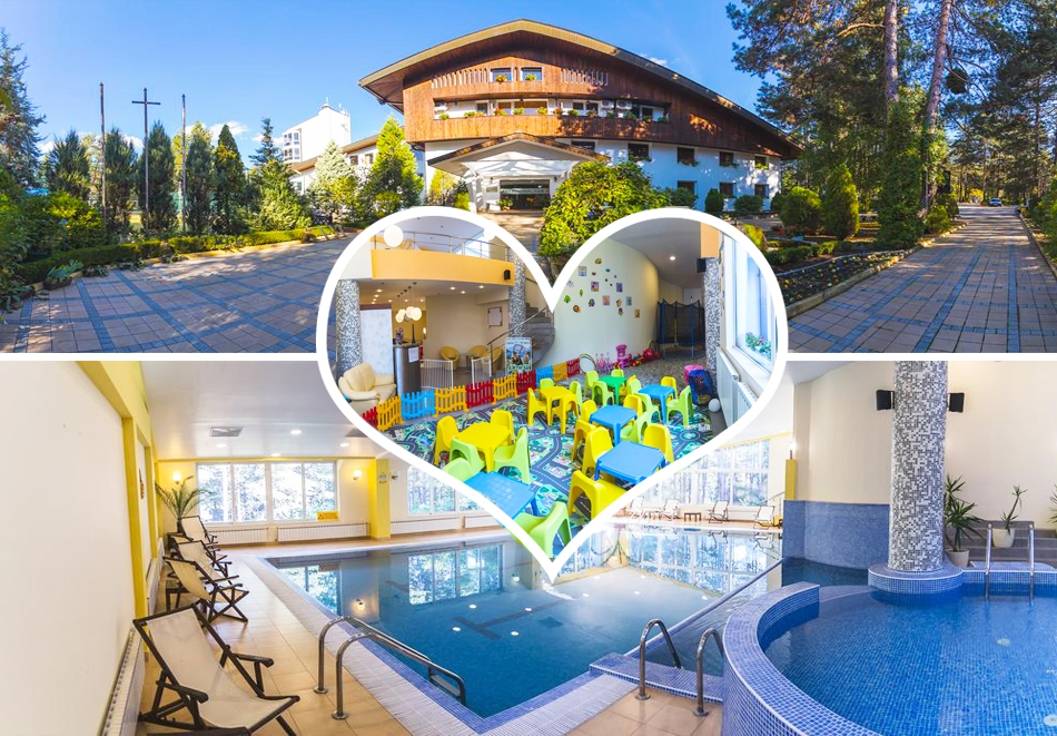 Нощувка на човек със закуска + басейн и релакс зона в хотел Борова гора, Прирдоп