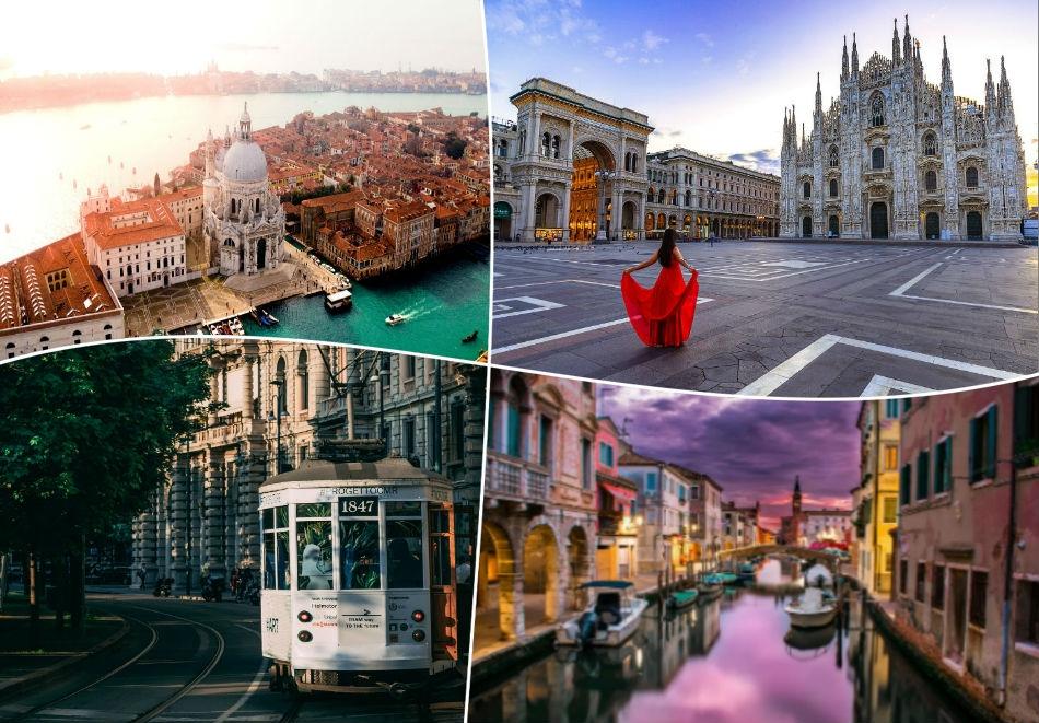 Екскурзия до Венеция и Милано, Италия!. 3 нощувки на човек със закуски + транспорт от ТА България Травъл