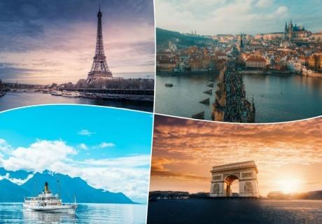 Екскурзия до Париж, Франция  с преминаване през Прага, Будапеща и Швейцария. 7 нощувки на човек със закуски + транспорт от ТА България Травъл