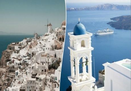 Ранни записвания за почивка на остров Санторини, Гърция! Транспорт + 4 нощувки със закуски на човек от ТА  ДАЛЛА ТУРС