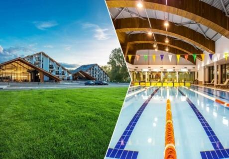 Нощувка, закуска и вечеря за двама в парк хотел Асарел, Панагюрище + басейн и СПА пакет в хотел Каменград