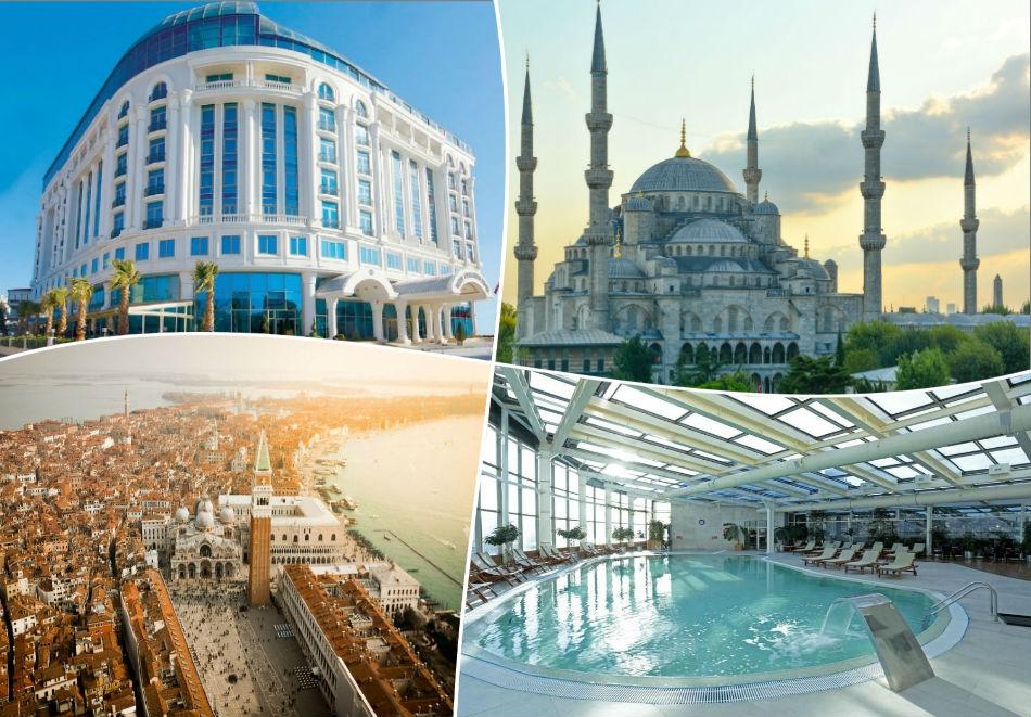 Майски празници на Мраморно Море, Турция! 2 нощувки със закуски  в луксозния Eser Premium Hotel & Spa, Кумбургаз до Истанбул  + транспорт от ТА Трипс Ту Гоу