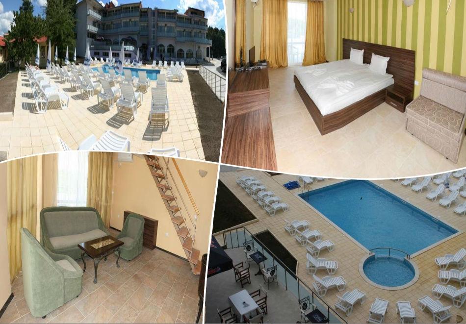 Ранни записвания за Море 2020 в Царево! Нощувка на човек със закуска и вечеря + басейн, шезлонг и чадър в хотел Марая - на 150м. от плажа