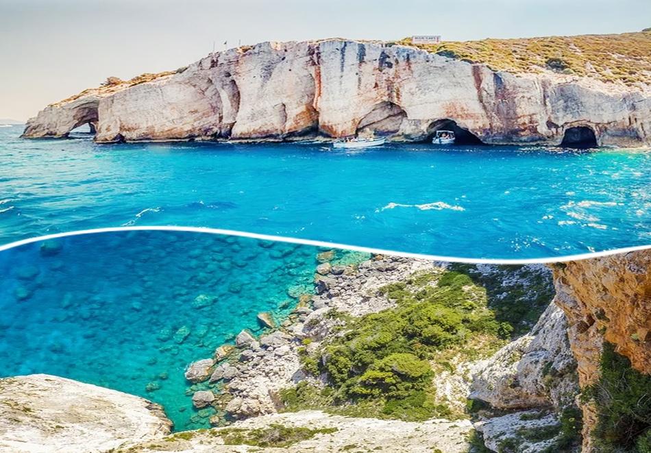 Ранни записвания за почивка на остров Закинтос, Гърция! Транспорт + 4 нощувки със закуски и вечери на човек от ТА  ДАЛЛА ТУРС