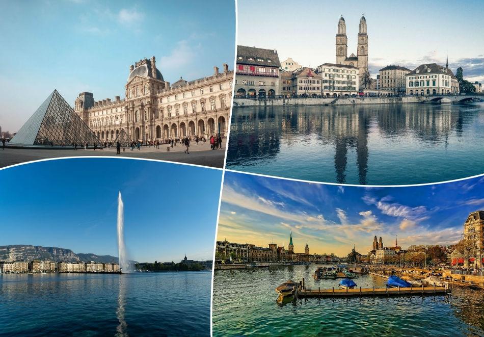 За Майските празници в Австрия, Франция, Германия и Швейцария!. 8 нощувки на човек със закуски + транспорт от ТА Холидей БГ Тур