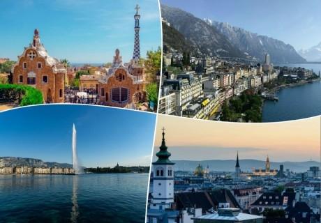 През пролетта в Испания, Германия, Швейцария и Австрия. 7 нощувки на човек със закуски + транспорт от ТА Холидей БГ Тур