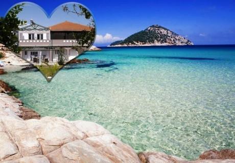 Ранни записвания за лято 2020 на остров Тасос, Гърция! Нощувка на човек в едноспален апартамент в Blue Sky Boutique Apartments, на 200м. от плажа