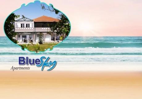 Ранни записвания за ТОП СЕЗОН на лято 2020 на остров Тасос, Гърция! Нощувка на човек в студио в Blue Sky Boutique Apartments, на 200м. от плажа