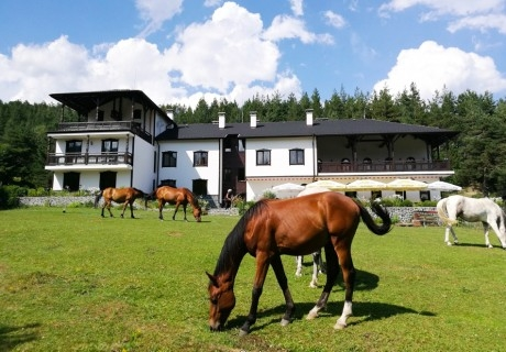 2 нощувки на човек със закуски, обеди и вечери + конна езда от приключенска къща и конна база Русалиите, с. Бачево до Банско