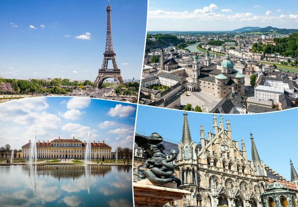 За Майските празници в Австрия, Германия, Франция, Швейцария и Италия!. 8 нощувки на човек със закуски + транспорт от ТА Холидей БГ Тур