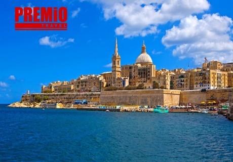 Самолетна екскурзия до Малта! Двупосочен билет + 7 нощувки на човек със закуски от Премио Травел