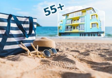 Специална оферта за септември 55+ от семеен хотел Нептун, Лозенец! Нощувка на човек със закуска, обяд и вечеря