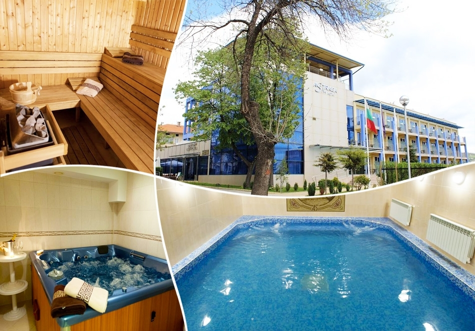 Нощувка на човек със закуска и вечеря по избор + минерален басейн и релакс зона от хотел Астрея, Хисаря