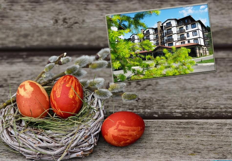 Великден край Банско! 3 или 4 нощувки на човек със закуски и вечери, едната празнична + басейн с МИНЕРАЛНА вода и релакс пакет в хотел 3 Планини