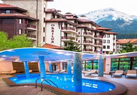 Нощувка на човек със закуска или закуска и вечеря + басейн в хотел Орбилукс***, Банско