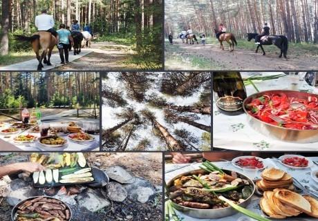 Нощувка на човек + възможност за езда и пикник от фамилна къща и механа Ореха, Банско