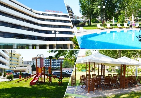 2 или 3 нощувки за 2-ма, 3-ма или 5-ма + басейн в апартхотел Бумеранг Резиденс, Слънчев бряг