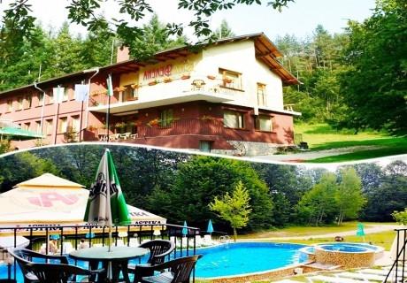 Нощувка на човек със закуска + басейн в Семеен хотел Велена, Априлци