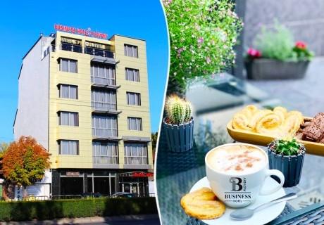 Нощувка на човек със закуска само за 39 лв. в Бизнес хотел Пловдив
