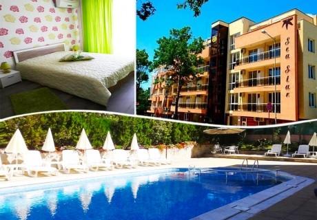 5 нощувки на човек + басейн в хотел Сий Стар, Приморско