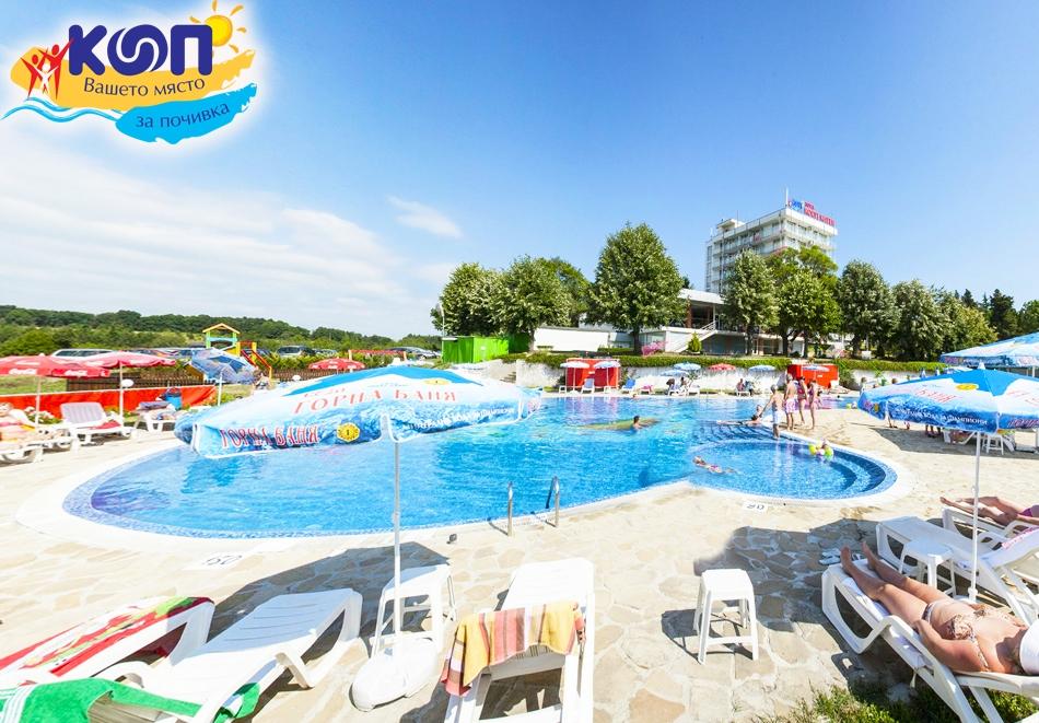 2, 3 или 5 нощувки на човек със закуски и вечери + басейн в хотел КООП Китен, на 100 м. от плажа