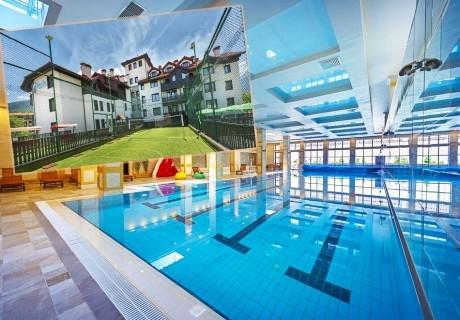 1 или 2 нощувки на човек със закуски и вечери + топъл басейн и СПА в хотел 7 Пулс & СПА Апартмънтс, Банско