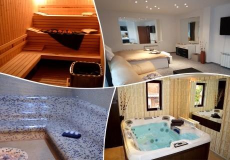 Нощувка в луксозен апартамент със сауна, джакузи и парна баня, с капацитет до 6 човека в хотел Уинслоу Атриум, Банско