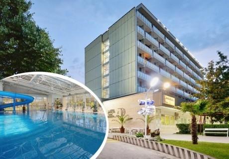 Нощувка за двама, трима или четирима със закуска и вечеря + минерални басейни и джакузи в хотел Аугуста, Хисаря