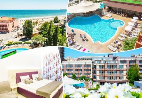 3, 5, 7 или 10 нощувки на база Ultra All Inclusive + басейн, шезлонг и чадър на плажа от МПМ хотел Астория****, на 1-ва линия в Слънчев бряг
