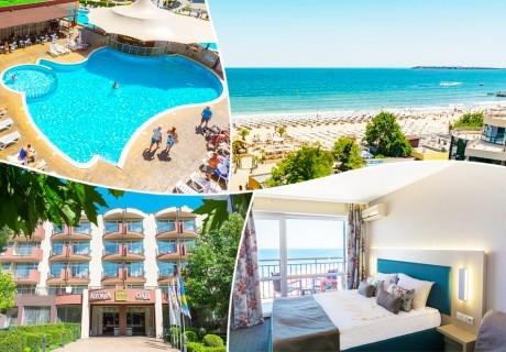 3, 5, 7 или 10 нощувки на база Ultra All Inclusive + басейн, шезлонг и чадър на плажа от МПМ хотел Орел, на 1-ва линия в Слънчев бряг