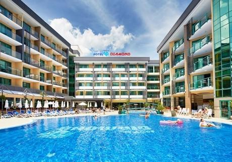 Нощувка на човек на база All Inclusive + басейн в хотел Диамант****, Слънчев бряг. Дете до 12.99 г. - БЕЗПЛАТНО!