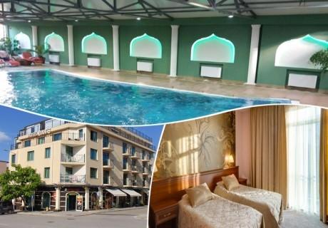 Нощувка на човек + топъл минерален басейн и релакс зона в хотел Бац****, Петрич