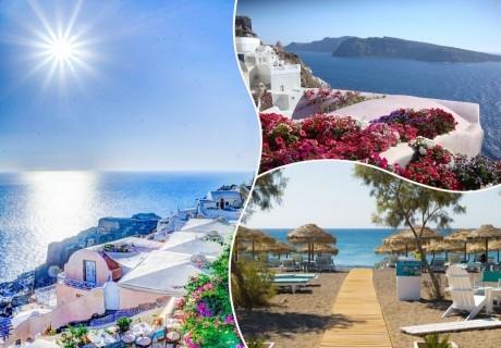Почивка на остров Санторини, Гърция! Транспорт + 4 нощувки със закуски на човек от ТА  ДАЛЛА ТУРС